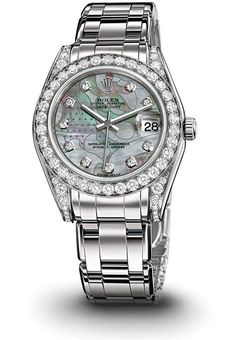 ♛ Rolex platinum w/diamonds ♛
