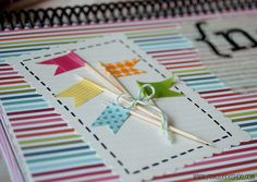washi flags by pinksuedeshoe, via Flickr