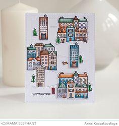 Mama Elephant Stamp Highlight: City Sidewalks /akossakovskaya/ #cardmaking #mamaelephant