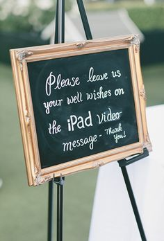 The iPad Messages - Sign Me: 20 Creative Wedding Guest Book Ideas - EverAfterGuide
