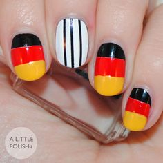 Germany World Cup Flag Nails