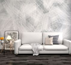 Tapet - Brush Strokes 395 x 270 cm Brush Strokes, Couch, Wallpaper, Interior, Poster, Furniture, Home Decor, Settee, Decoration Home
