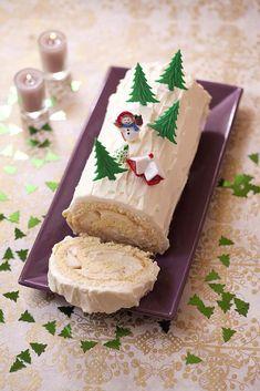 Photo de la recette : Bûche de Noël poire et caramel au beurre salé