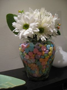 DIY: Conversation Heart Vase for Valentine's Day