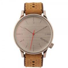 Komono #Watch - Winston Brogue - Macciato - love the #wood #grain face