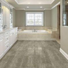 Allure Locking Golden Concrete x Luxury Vinyl Tile Flooring sq. Allure Flooring, Luxury Vinyl Tile Flooring, Concrete Color, X 23, Home Reno, Mold And Mildew, Kitchen Flooring, Corner Bathtub, Fixer Upper