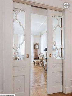 Sliding door design ideas & pictures l homify Porta Diy, Decoration Entree, Frosted Glass Door, Bedroom Doors, Bedroom Closets, Wooden Bedroom, Mirror Bedroom, Bedroom Wallpaper, Master Bedrooms