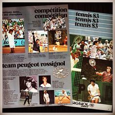 #tbt #throwbackthursday Just in time for red clay season, here are some red clay images of Johan Kriek and other tennis greats who were all part of a very successful Team Peugeot/Rossignol back in the 80's #JohanKriek #MatsWilander #AndresGomez #JoseLuisClark #TimMayotte #TimWilkison #JoachimNystrom #Rossignol #Peugeot #tennis #ATP #ATPTour