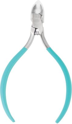 DANIELLE - SOFT TOUCH - STAINLESS STEEL - CUTICLE NIPPERS -- BLUE
