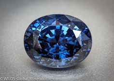 Blue spinel. An 8 on the Mohs scale of hardness, spinel comes in other colors as well -- red, orange, pink, purple, and black. #blue #spinel #gemstones