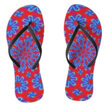 Adult Slim Straps with Blue Red Design Flip Flops - Durable Thong Style Hawaiian Beach Sandals By Talented Fashion & Graphic Designers - Flip Flop Sandals, Flip Flops, Fashion Graphic, Fashion Design, Red Design, Beach Sandals, Mens Fashion, Trendy Fashion, Me Too Shoes