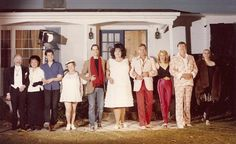 Cast photo from John Waters' Polyester starring Divine, Tab Hunter, Edith Massey and Mink Stole