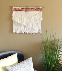 weaving large wall weaving woven wall hanging by PineapplePhi