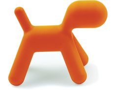 Magis Puppy, Eero Aarnio – With its minimal, modern shape and detail, Aarnio's brightly colored Puppy draws the eyes, of children especially, while simultaneously blurring the line between toy and furnishing.