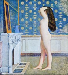 Balthus. Nude girl before the mirror (1955).