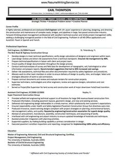 For me, this is the heart of the resume writing process – we aren't just putting facts and figures, phrases and sentences, timelines and contact info together in a document! We are telling a story in such a way as to capture someone's attention. http://www.resumewritingservice.biz/resume-and-cv-samples/civil-engineer-resume-sample/. Check out that cool T-Shirt here: https://www.sunfrog.com/trust-me-im-an-engineer-NEW-DESIGN-2016-Black-Guys.html?53507