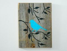 Reclaimed Barnwood HandPainted Wood Wall Art by TheDoubleDubs, $30.00
