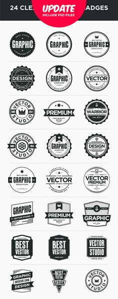 Pleins de badges retro / vintage