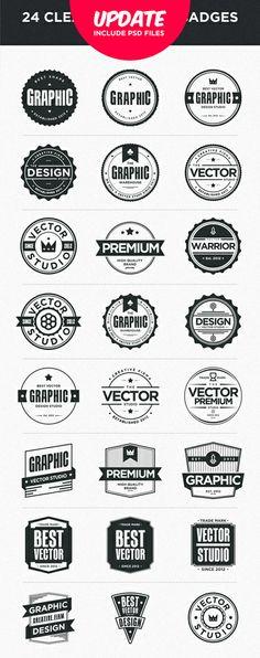 Pleins de badges retro / vintage