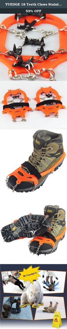 Ice Snow Grips Boots Crampons Shoes Spikes Anti Slip Silicone Shoes Cover Teeth Claws for Outdoor Ski Hiking Climbing 1Pair
