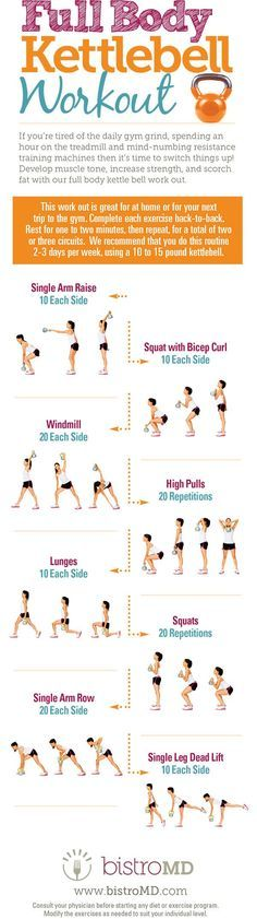 cool Full Body Kettlebell Workout More