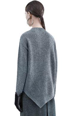 Acne Studios Holly shetland medium grey Twisted sweater