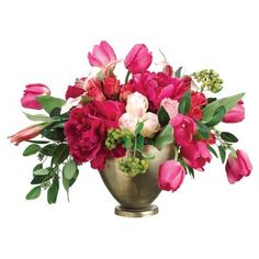 "Check out this item at One Kings Lane! 14"" Peony and Tulip Arrangement"