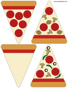 Pizza from Pizza Party Red Printable Photo Booth Set