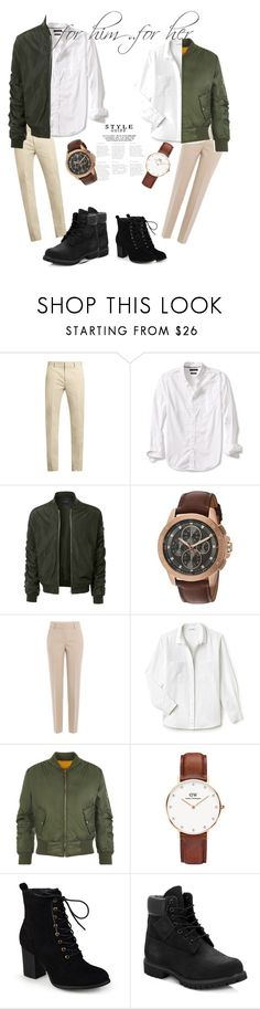 """cute couples only ;)"" by hla-ayman ❤ liked on Polyvore featuring Calvin Klein Collection, Banana Republic, LE3NO, Michael Kors, DKNY, Lacoste, WearAll, Daniel Wellington, Journee Collection and Timberland"