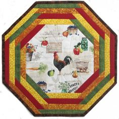 A Day on the Farm Centerpiece Tablemat Kit Round Table Covers, Sewing Table, Place Mats, Table Toppers, Sewing Tutorials, Table Runners, Techno, Centerpieces, Quilting