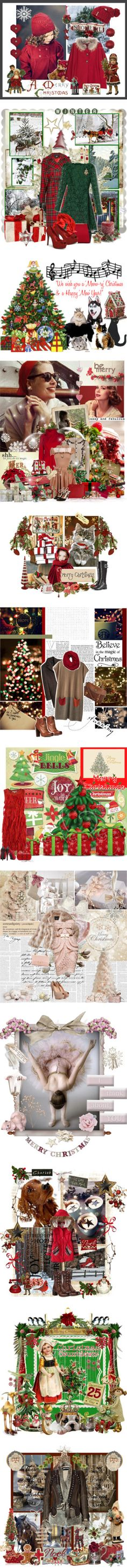 """Christmas, part deux"" by greygold ❤ liked on Polyvore"