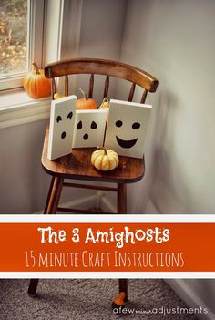 """The 3 Ami""""ghosts""""...a 15 minute Halloween project"""