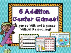 This packet contains 6 games that will help your students master 2 digit addition!  My kiddos love these games and are always on task and engaged when playing!  You will get 3 games focused on 2 digit addition with regrouping and 3 games focused on two digit addition without regrouping--Great for differentiation and math interventions!