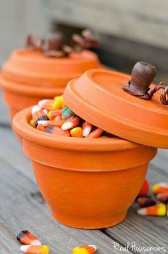 DIY Pumpkin Terracotta Pots http://realhousemoms.com/diy-pumpkin-terracotta-pots/