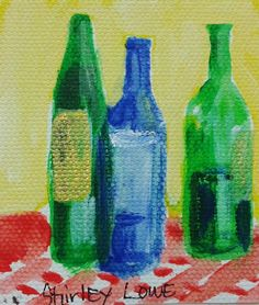Wine painting. Snippets: Tiny bits of original acrylic paintings on canvas by…