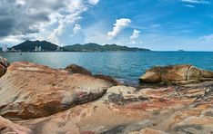 Strand mit aufziehenden Regenwolken in Nha Trang, Vietnam.  #beach #cloud #panorama #vietnam #nhatrang #travel #traveling #TFLers #vacation #visiting #instatravel #instago #instagood #trip #holiday #photooftheday #fun #travelling #tourism #tourist #instap