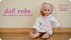Puppen-Bademantel