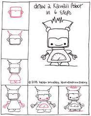 Afbeeldingsresultaat voor how to draw kawaii food step by step