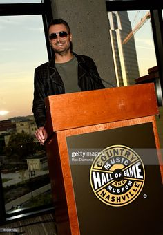 Eric Church speaks during the 'Eric Church: Inside The Outsider' exhibition at the Country Music Hall of Fame and Museum on September…