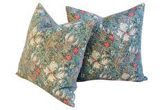 Wm. Morris Golden Lily Minor Pillows, Pr | One Kings Lane