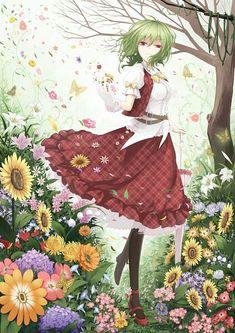 Beautiful Anime Girl, I Love Anime, Manga Anime, Anime Art, Anime Summer, Zelda Twilight Princess, Girls With Flowers, Mobile Wallpaper, Artist At Work