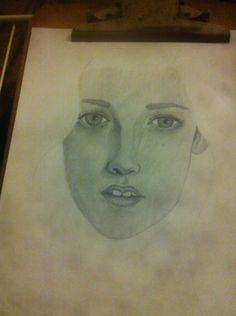 Dibujo a lapiz christine  El Coteyo.