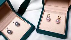 AAAA mm Akoya Pearl or Tahitian Pearl Earrings, Gold w/ Diamond Tahitian Pearl Earrings, Tahitian Pearls, Japanese Pearls, South Sea Pearls, Pearl Pendant, Pearl Jewelry, 18k Gold, Diamonds, Vogue