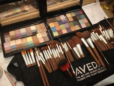 flax sticks™ by Aveda—One of the most important things for great makeup application is a set of high quality makeup brushes. Makeup Tools, Makeup Brushes, Makeup Kit, Aveda Hair Salon, Aveda Makeup, Spa, Natural Cosmetics, Makeup Palette, Love Makeup