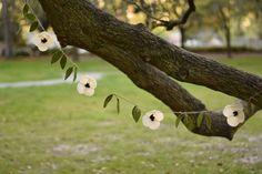Anemone flower garland - floral garland with leaves - wedding decoration- felt flower garland