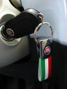 Key Fiat 500 blue italia