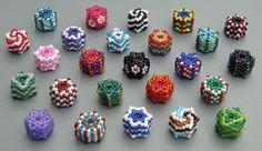 Peyote Hexagon Beaded Bead, Sova Enterprises