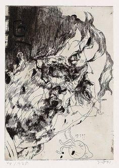 Abstract Portrait, Portrait Art, Portraits, Drawing Sketches, Art Drawings, Horst Janssen, Art Zine, Illustrator, Sketches Of People