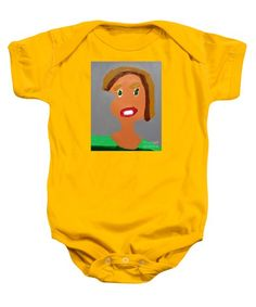 Patrick Francis Gold Designer Baby Onesie featuring the painting Portrait Of Camille Roulin 2015 - After Vincent Van Gogh by Patrick Francis Rembrandt Self Portrait, Bee Images, The Iron Giant, White Caps, 6 Mo, Loose Hairstyles, Baby & Toddler Clothing, Unisex Baby