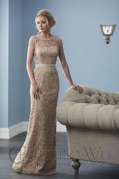 Christina Wu Elegance 20242 Modern social occasion gowns for any woman. Captured in modishly designed lace, this full-length A-line gown presents a fashionable grosgrai Mother Of The Bride Dresses Long, Mother Of Bride Outfits, Mothers Dresses, Long Mothers Dress, Mother Of The Bride Fashion, Prom Dresses Jovani, Mob Dresses, Bridesmaid Dresses, Wedding Dresses
